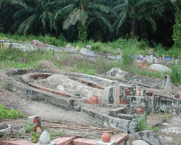 A gravesite in Malaysia, which can be surveyed with Rover C II.