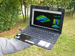 Free mini laptop for each metal detector Rover C II.